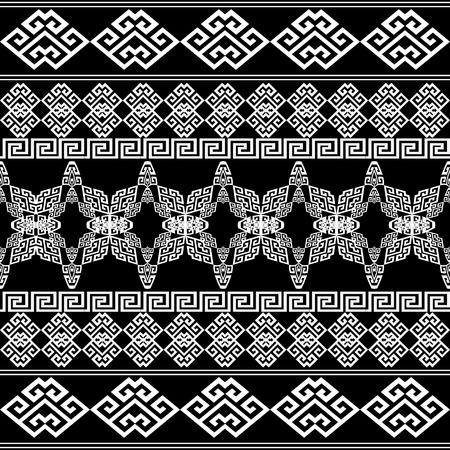 Greek seamless borders pattern. Vettoriali