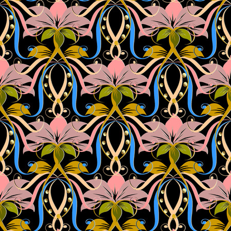 Floral vintage vector seamless pattern. Vectores