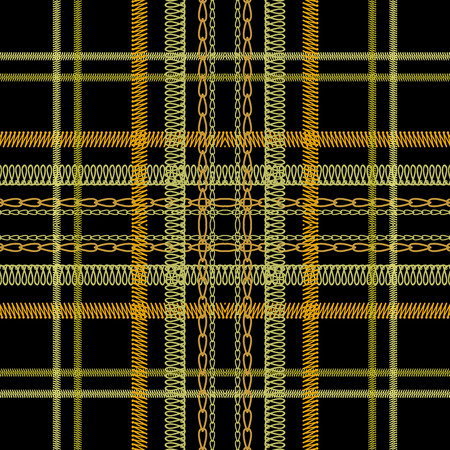 Tartan embroidery colorful vector seamless pattern. Stitching striped textured plaid background. Tapestry repeat grunge backdrop. Vertical and horizontal embroidered stripes, borders, zigzag, lines