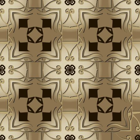 Egyptian eyes seamless pattern. Papyrus background. Vector graphic illustration. Ancient hieroglyphs. Old style tribal ornament with egyptian eyes, symbols, signs, shapes. Abstract golden design