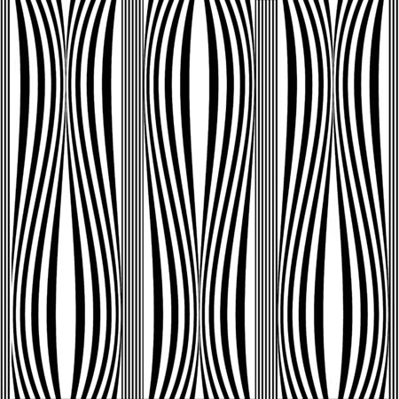 Striped black and white seamless pattern. Vertical stripes background. Monochrome repeat abstract lines backdrop. Modern geometric borders ornament. Beautiful elegant ornate design. Template
