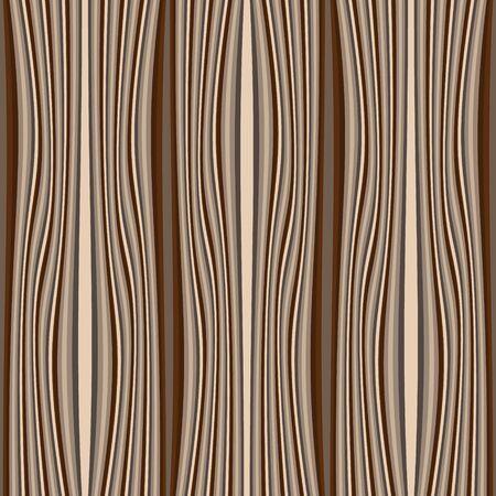 Modèle sans couture de vecteur texturé bois. Fond en bois de lignes de vague. Répétez la toile de fond rayée. Conception à motifs décoratifs. Ornement moderne orné. Rayures verticales, vagues. Matériel. Texture sans fin