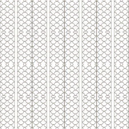 Lace seamless pattern. Ornamental grid vector background. Repeat net backdrop. Lacy elegance black and white gauze ornaments. Intricate ornate netting design. For cards, wallpapers, prints, fabric. 向量圖像
