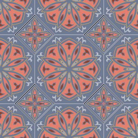 Arabesque seamless pattern. Elegance arabic vector background. Beautiful elegant ornaments. Repeat ornamental arabian backdrop. Vintage flowers, leaves, lines, frames. Ornate floral patterned design. 矢量图像