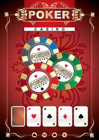 Poker game theme Vector