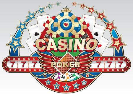 casino dealer: Casino illustration  Illustration