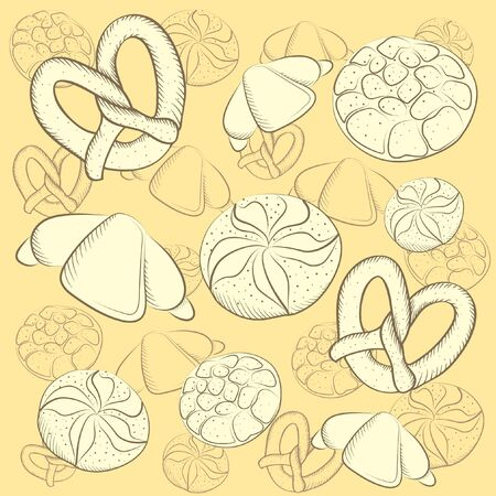 Background Vector illustration of bakeries of products  Vector