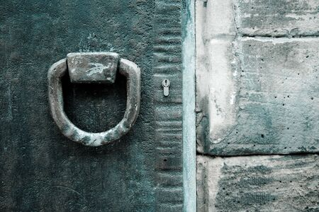 antique keyhole: Old Metal Doors, with ironworks, at Speyer, Germany Stock Photo
