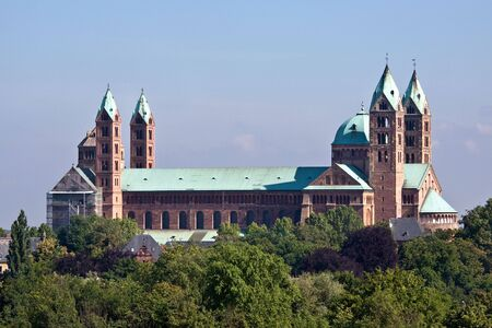 South side of the roman cathedral as Speyer, Germany Stock Photo