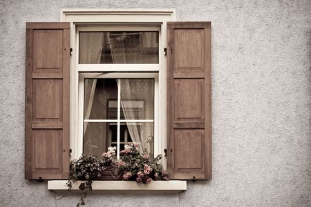 wood blinds: Old Windows and Shutters in Speyer, Germany