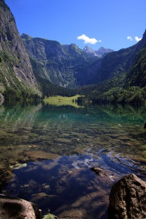 Views of the Hintersee in the bavarian alps near berchtesgaden