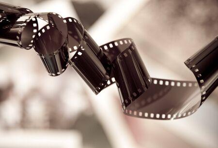 lembo: Vecchia striscia di pellicola fotocamera con sfondo fotografico