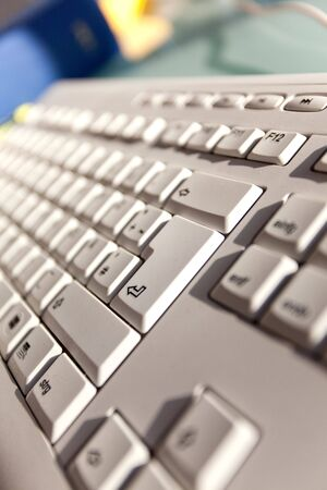 Computer keyboard with focus on the Enter Key Stock Photo - 5906179