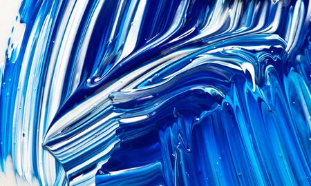 acryl: Abstract Handpainted Acryl Color Background in Blue and White