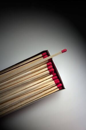 Box of Matches lit by Spotlight on neutral background Stock Photo - 6425588