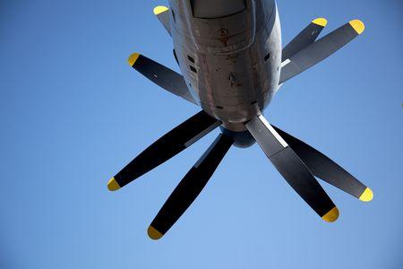 turboprop: Detail view of a AN-22  turboprop motors