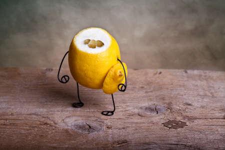 Still-Life with headless Lemon - Simple Things Stock Photo - 9406042