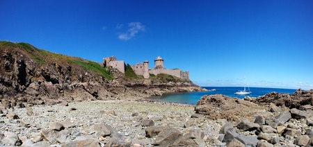 View of the Fort La Latte in Brittany France photo