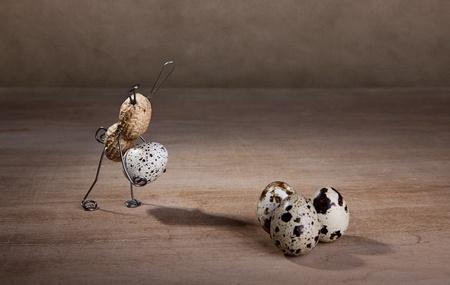 tinkered: Peanut conejos de Pascua los huevos con la preparaci�n de algunos peque�os contratiempos