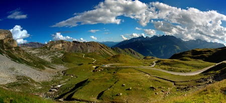Views of the grossglockner High Alpine Road in Austria Europe photo