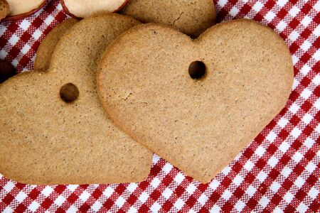 Gingerbreads in Heart and Star Shape with dried Spices photo