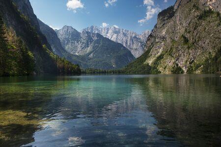 berchtesgaden: The Obersee above lake Konigssee near Schonau, Bavaria, in Summer Stock Photo