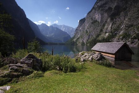 The Obersee above lake Konigssee near Schonau, Bavaria, in Summer photo