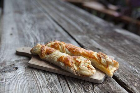biergarten: Sweet fresh Nut Pastry served in an alpine chalet in Austria