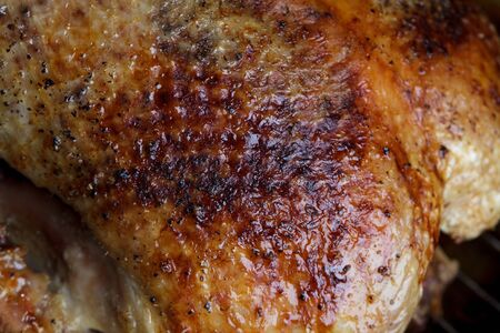 Crispy roasted Barbery Duck in in roasting pan ready for serving Stock Photo - 17970498