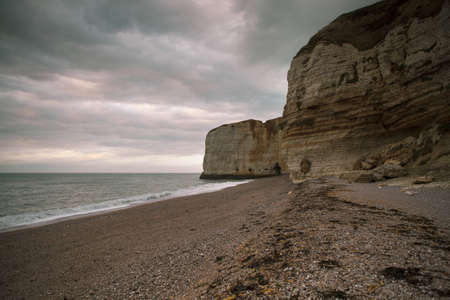 normandy: Cliffs at the coast in Normandy France in Autumn