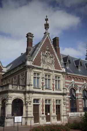 palais: Outside view of the Palais Benedictine at Fecamp Normandy France