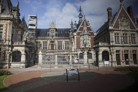 benedictine: Outside view of the Palais Benedictine at Fecamp Normandy France