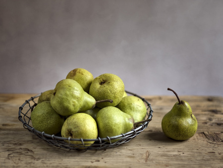 stilllife: Still-Life with Arrangement of Pears Stock Photo