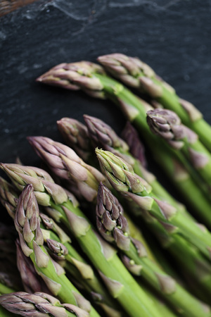 Studio Still Life with Fresh Green Asparagus 写真素材