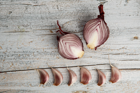 Fresh Garlic Cloves and halved Shallots
