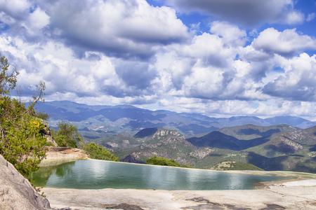 Hierve el Agua, in the Central Valleys of Oaxaca, Mexico Editorial