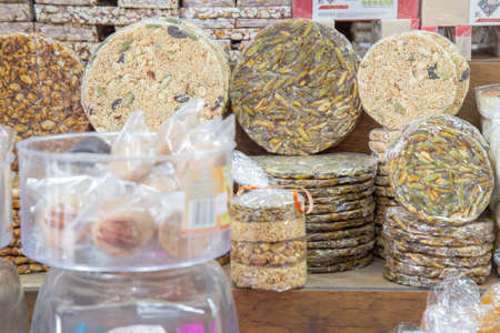 Colorful typical sweets from of Mexico