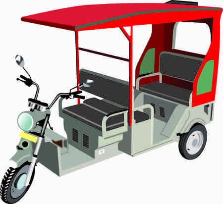 E-Rickshaw Image Stock Photo