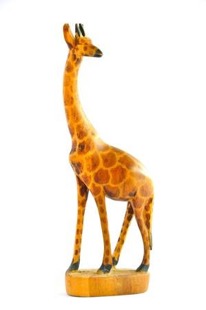 Wood Giraffes on white background photo