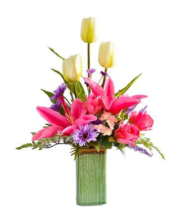 arreglo floral: Arreglo de flores artificiales