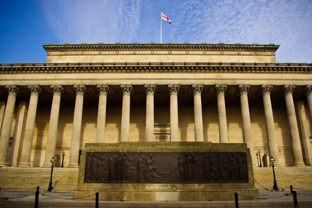 derecho romano: St.George Hall, Inglaterra de Liverpool  Foto de archivo