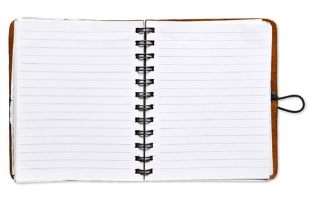 Open Spiral Notebook blank paper photo