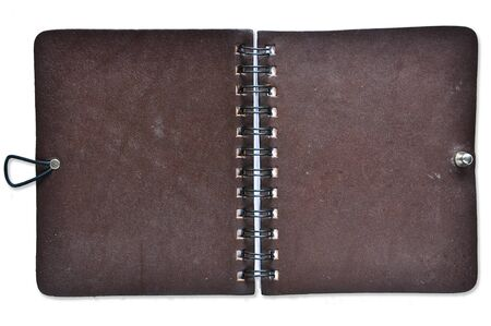 Open Leather Cover Notebook photo