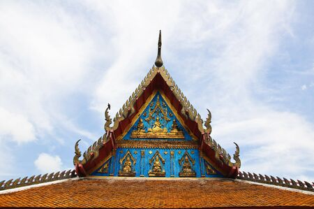 Old Wooden Gable of Thai Temple