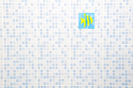 Ceramic Wall with fish sticker photo