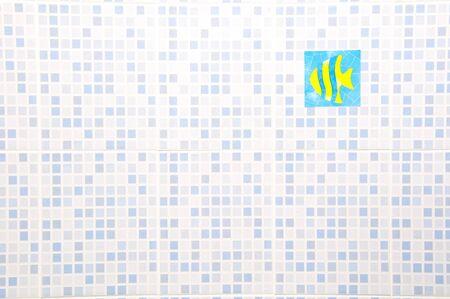 Ceramic Wall with fish sticker Stock Photo - 7904884