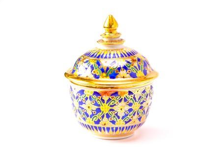 Ancient Colorful Thai Bowl photo