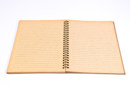 Open Blank page of Recycle Paper Notebook photo
