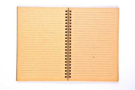 Open Blank page of Recycle Paper Notebook Stock Photo
