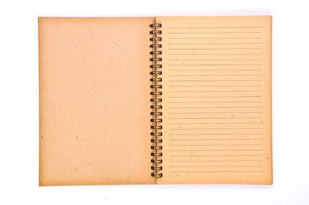 papier naturel: Page vide ouvert de recyclage Paper Notebook